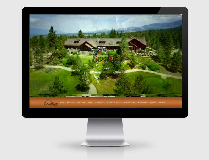 golf resort web design